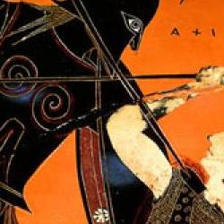 Urn showing Achilles Killing Pentheselia